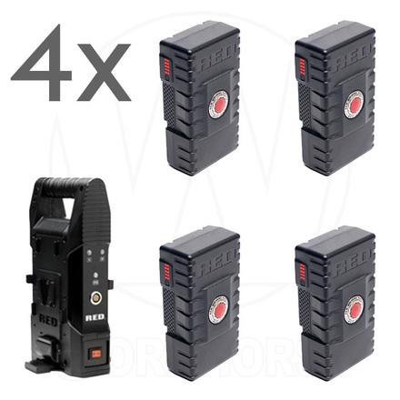 4 V-Mount batteries 140Wh