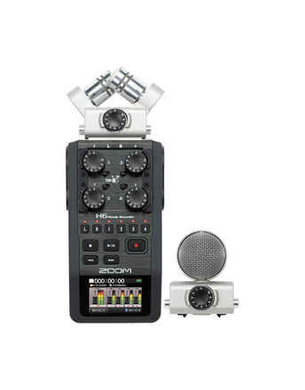 Zoom H6 Handy Recorder with Interchangeable Microphone Syste