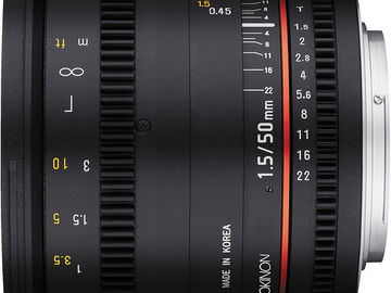 Rent: Rokinon Cine DS 50mm T1.5 for Sony E-Mount