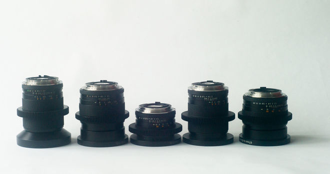 Zeiss Contax set of 5 lenses