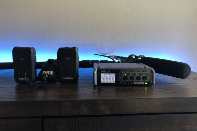 Zoom F4, Rode NTG4 +, Rode wireless lav Audio Package