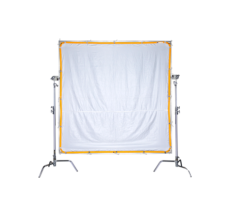 Matthews 8x8' Quick Corners Frame with White Artifical Silk