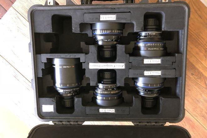 Zeiss  Compact Prime CP.2 super speed 5 lenses set pl mount