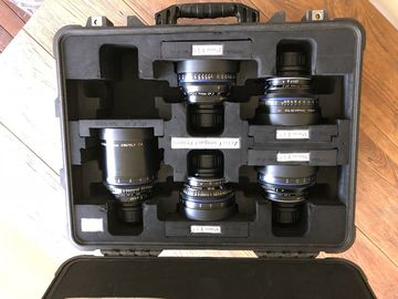 Zeiss  Compact Prime CP.2 super speed 5 lenses set pl mount