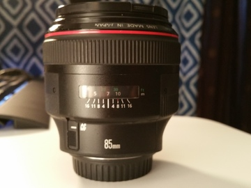 Rent: Canon EF 85 mm f/1.2L II USM Lens