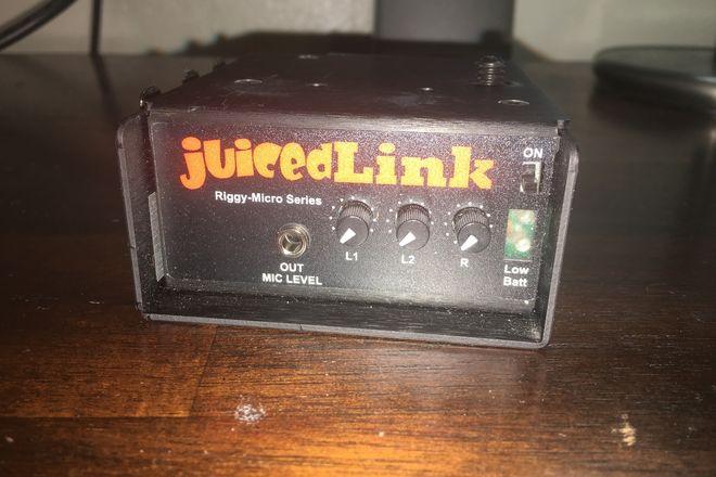 JuicedLink RM222 Riggy-Micro Dual-XLR Preamp w Phantom Power
