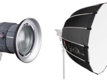 Aputure Fresnel & 2x Light Domes