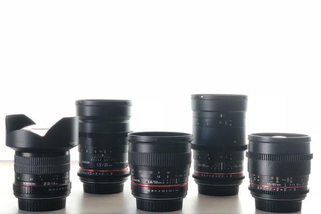 Rokinon Lens Kit (14, 35, 50, 85, 135)