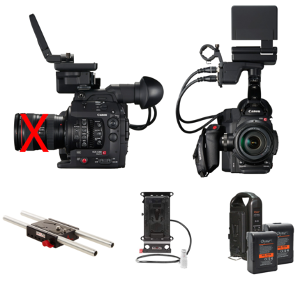 Canon C300 Mark II Basic Package with V-Mount Batteries
