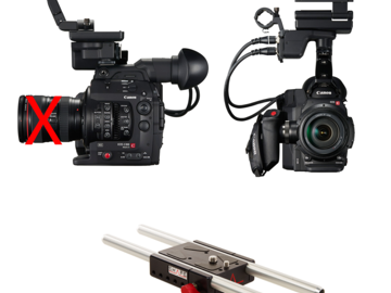 Rent: Canon C300 Mark II Basic Package with Rokinon Cine lenses