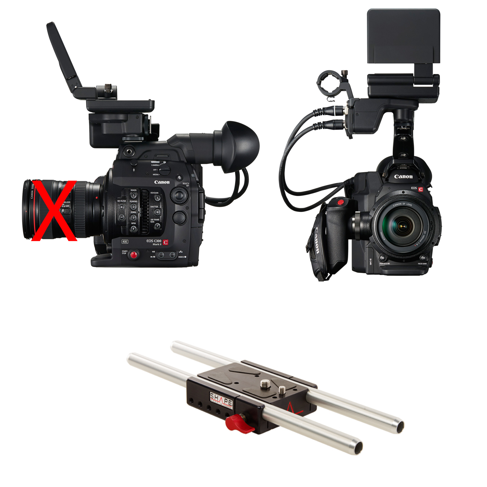Rent a Canon C300 Mark II Basic Package with Rokinon Cine lenses, Best  Prices | ShareGrid Los Angeles