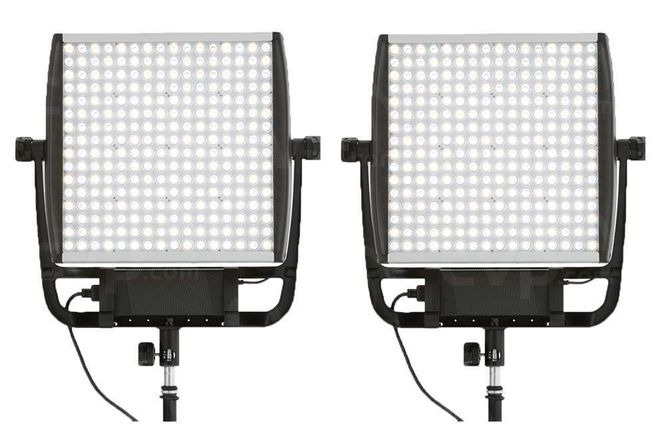 2x Litepanels Astra 4x Bi-Color LED Light w/ Gold Mount
