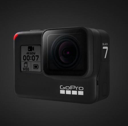 GoPro Hero 7 Black - 4 Batteries & 2 x media, + kit