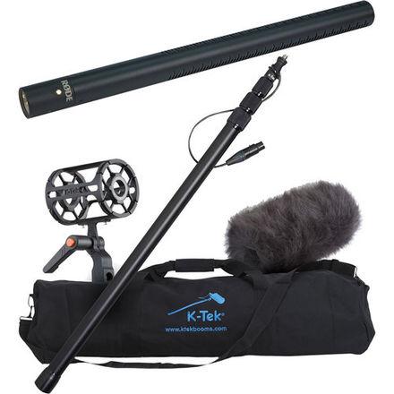 Boom Mic Kit (K Tek boom pole, Rode NTG3 mic, 50' XLR cable)