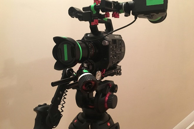 Sony PXW-FS7 4K, with Zacuto VCT/Shoulder Mount, Rokinons