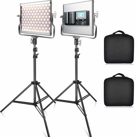2x FOSITAN L4500 LED Video Light