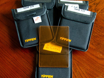 Tiffen Coral 4x5.65 Filter Set (1/8, 1/4, 1/2, 1)