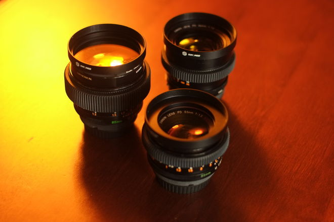 (single lens) Canon FD SSC Speed lens