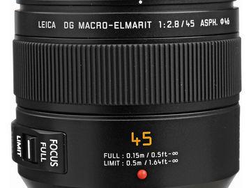 Rent: Panasonic Leica DG Macro-Elmarit 45mm f/2.8