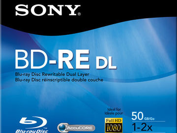 Rent: Sony BNE-50RH BD-RE 50GB Blu-ray Recordable Disc