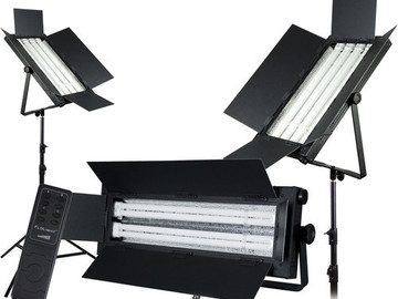 Rent: Flolight 1- FL-110AWD / 2- FL-220AWD 3 Fluorescent Light Kit
