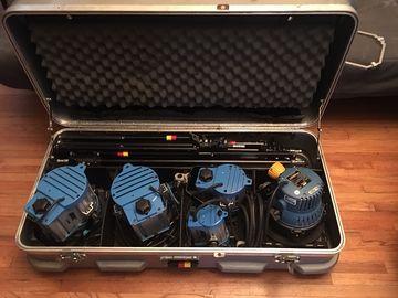 ARRI Tungsten Light Kit  2 x 650's, 1x 300, 1 x 150,  1 x 1K