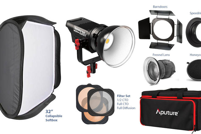 Aputure Lightstorm 120D + FULL ACCESSORIES 2/2