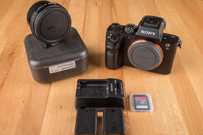Sony a7S II Mirrorless Camera Kit - Canon EF Mount + More