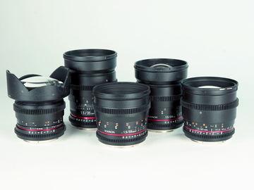 Rent: Rokinon Cine Lens Set - 14mm, 24mm, 35mm, 50mm, 85mm