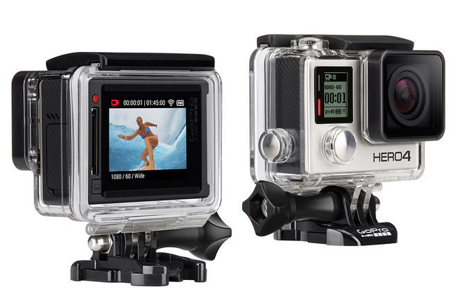 GoPro 4 Black + monitor + jaws clamp mount + 32gb micro S