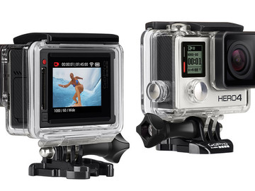 Rent: GoPro 4 Black + monitor + jaws clamp mount + 32gb micro S