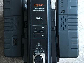 Rent: Two Dyna D2s (150Wh) v-mount battery
