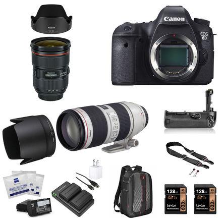 Canon EOS 6D Package w/24-70mm 2.8II, 70-200mm 2.8II