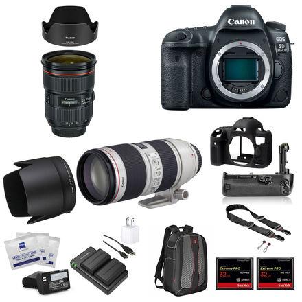 Canon EOS 5D Mark IV Package w/24-70mm 2.8II, 70-200mm 2.8II