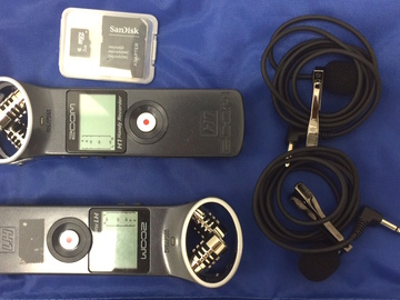 Rent: Zoom H1 Recorder (X2) + Lav Mic (X2) + Cards and Reader