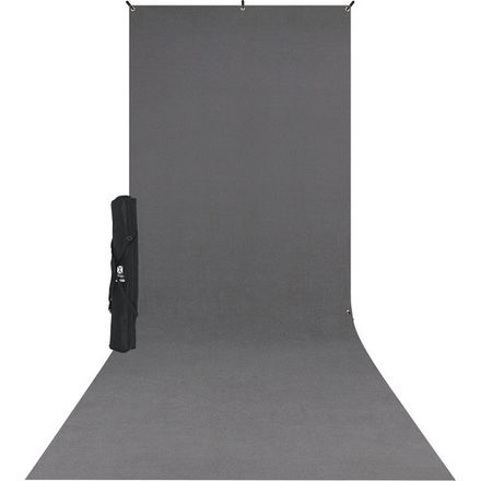 Westcott X-Drop (5 x 12') Backdrop Fabric Gray, Black, White