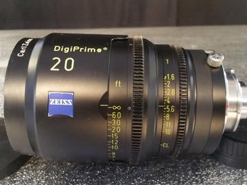 Rent: 20mm Zeiss Digiprime T 1.6 , B4 Mount