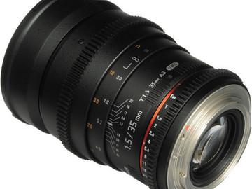 Rent: Bower 35mm T1.5 Cine Lens