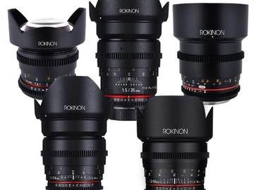 Rent: Rokinon cine lens set EF