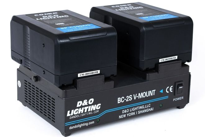 2 x 190Wh V-Mount Batteries + Dual V-Mount Charger
