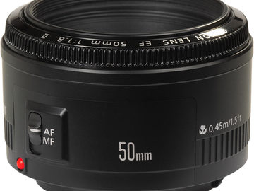 Rent: Canon 50mm EF Mount 1:1.8 II
