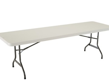 "Rent: 5 Plastic Table 6""Foot"