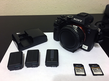 Rent: Sony A7Sii Camera Body, MetaBones EF adapter - 4 batteries