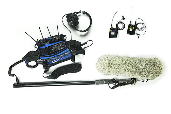 Location Sound Kit for Video Production w/ Boom Mic and 2x L