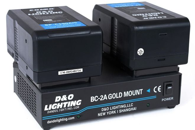 2 x 190Wh Gold Mount Battery + Dual Gold Mount Charger