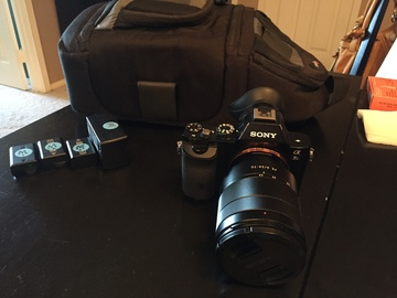 Rent: Sony A7s with 3 batteries, 2 64GB cards and carrying bag