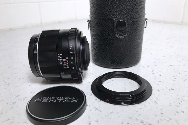 Pentax Macro-Takumar 50mm f/4.0 Prime w/ EF Adapter