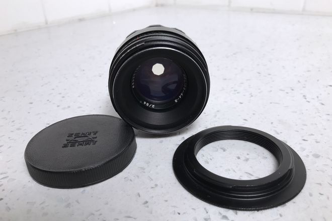 Helios Helios 44-2 58mm f/2.0 Prime w/ EF Mount Adapter