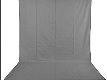 Rent: Grey 6x9 foot muslin Backdrop