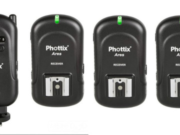 Rent: Wireless Transmitter/Receiver Flash Trigger Set
